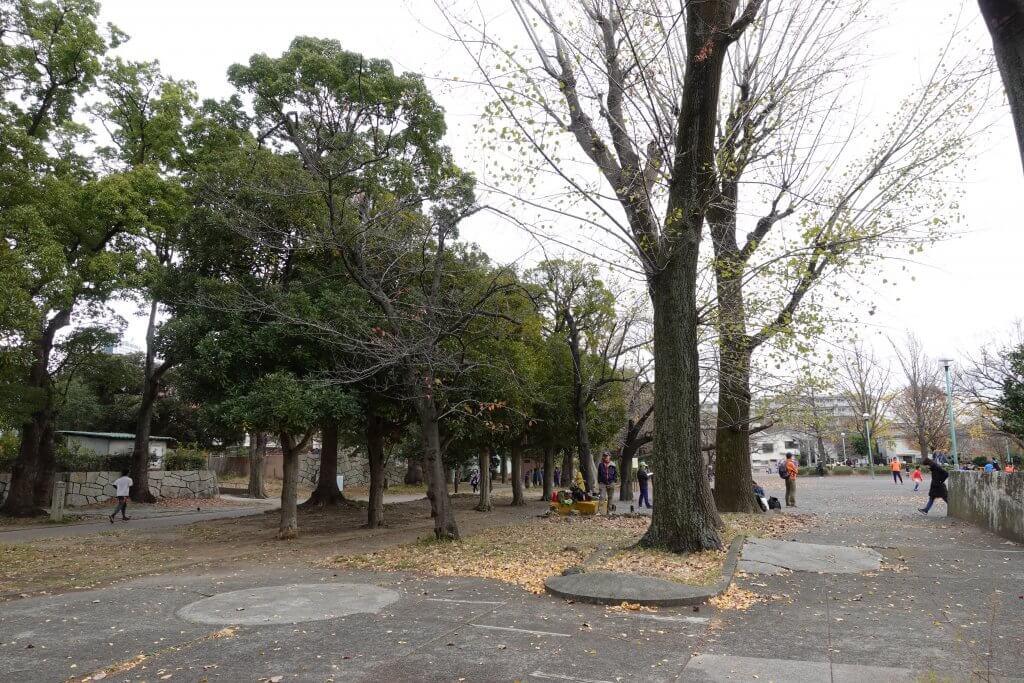 川崎市中原平和公園のグラウンド