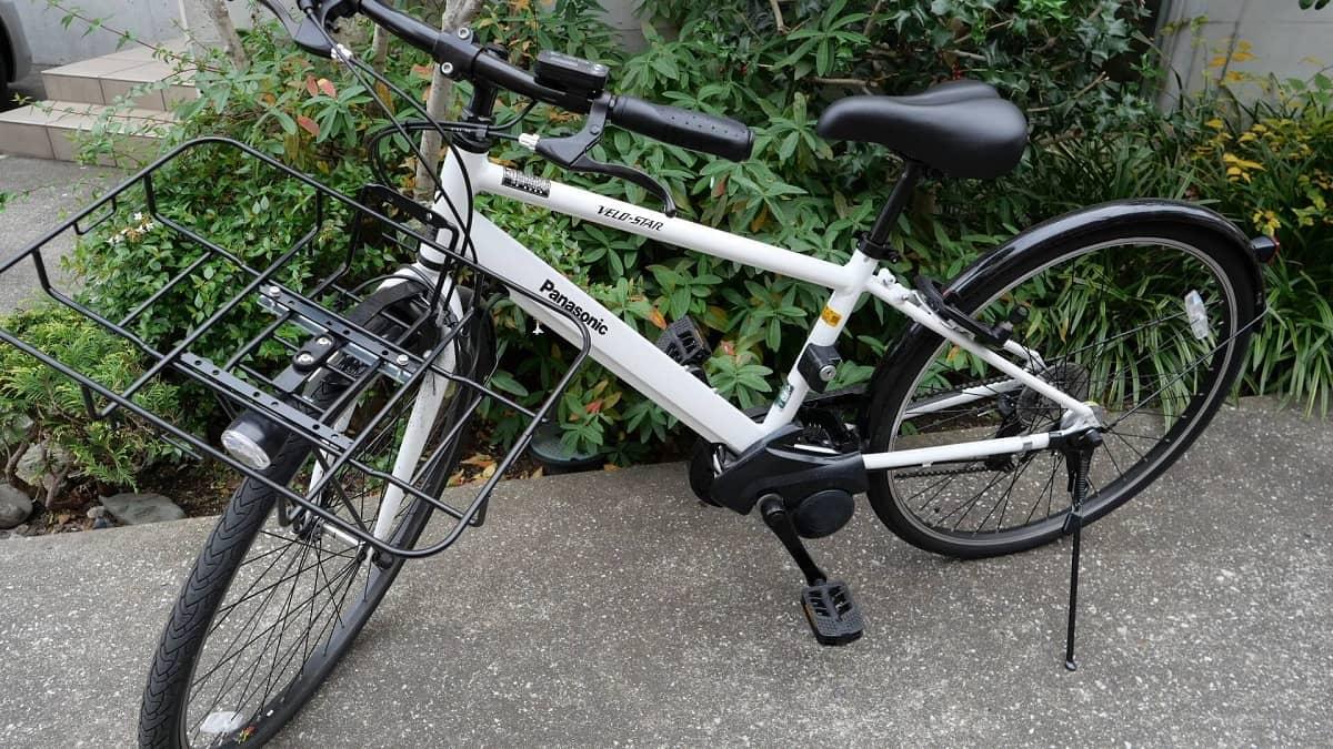 自転車にフロントキャリアを装着した画像