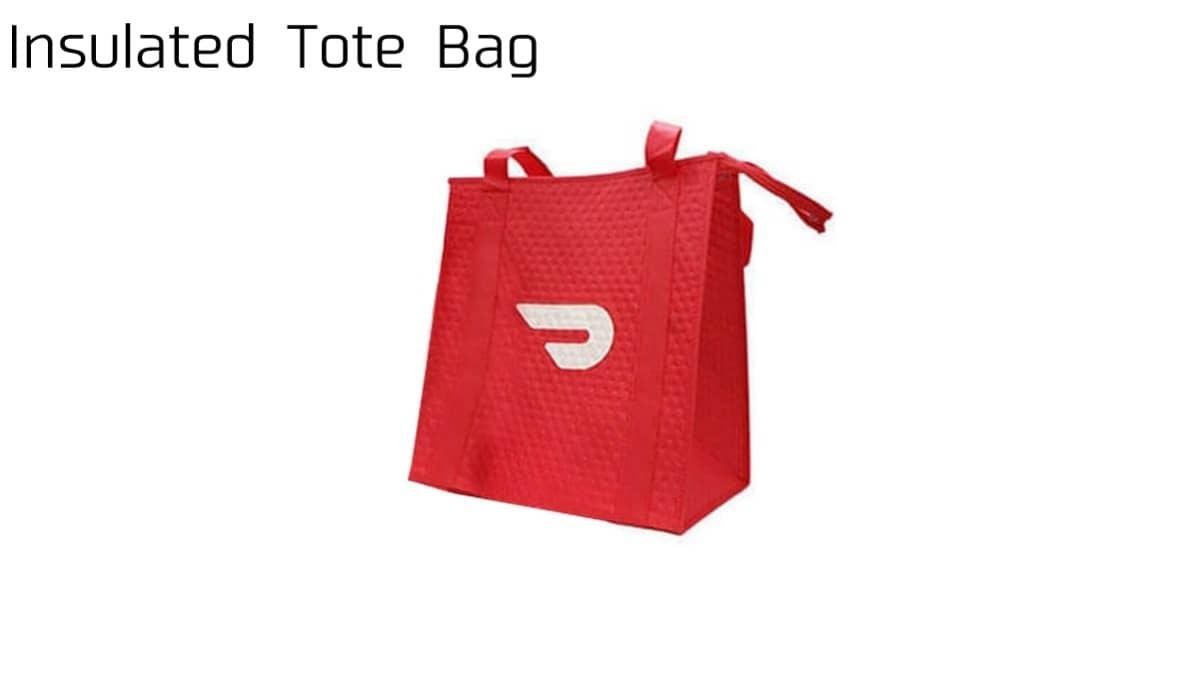 DoorDash Insulated Tote Bag(ドアダッシュ断熱トートバッグ)の画像