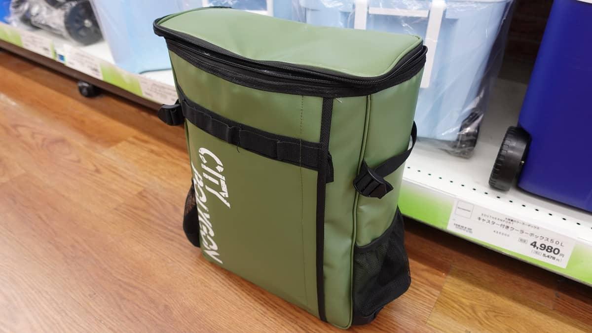 筆者がホームセンターで唯一見つけたデリバリーバッグ