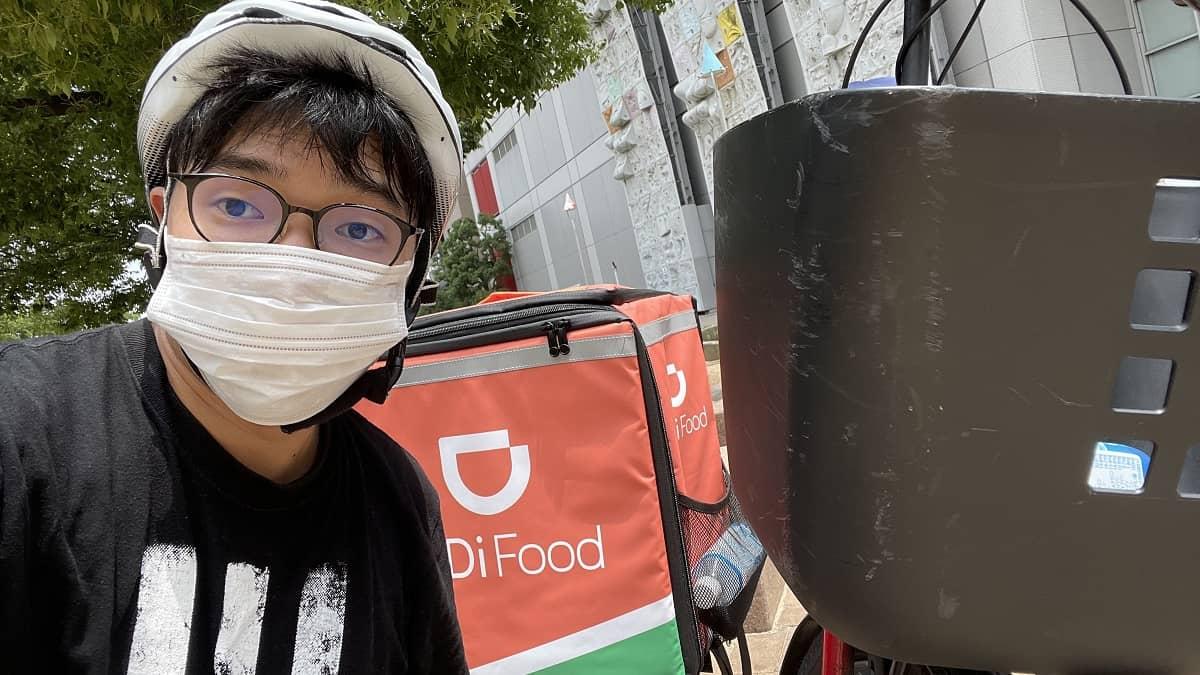 DiDiフード大阪梅田の初稼働の様子