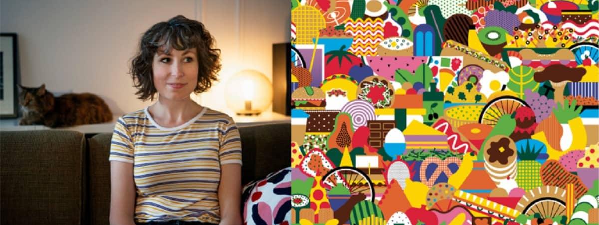 おしゃれなデリバリーバッグ(ウーバーイーツアーティストデザインバッグ)Melanie Lambrick(メラニー・ランブリック)さん