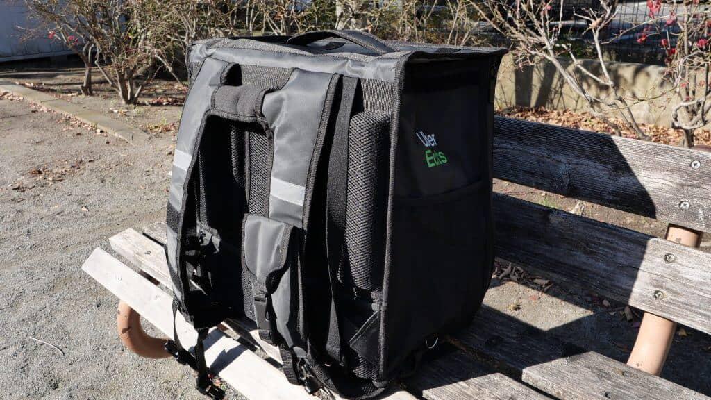 ウーバーイーツのバッグ装備背中のクッション